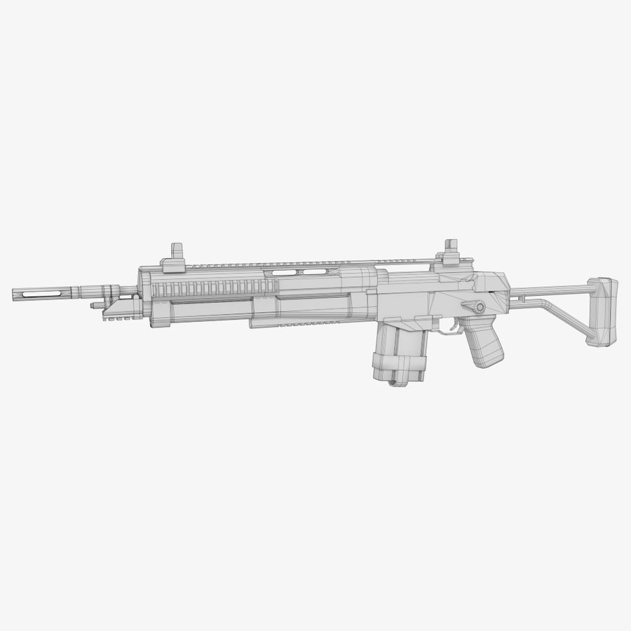 Fusil d'assaut royalty-free 3d model - Preview no. 8