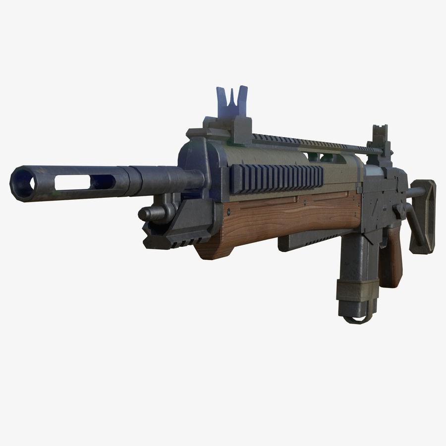 Fusil d'assaut royalty-free 3d model - Preview no. 4