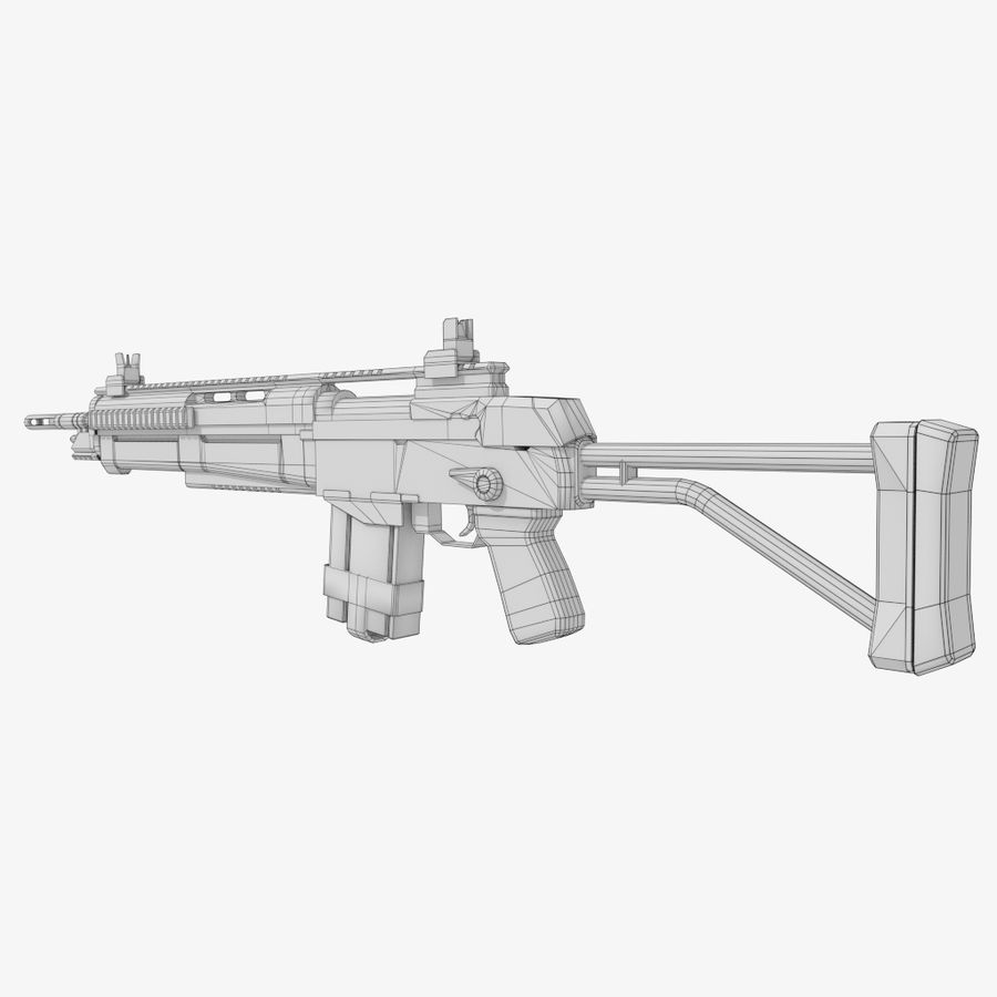 Fusil d'assaut royalty-free 3d model - Preview no. 9