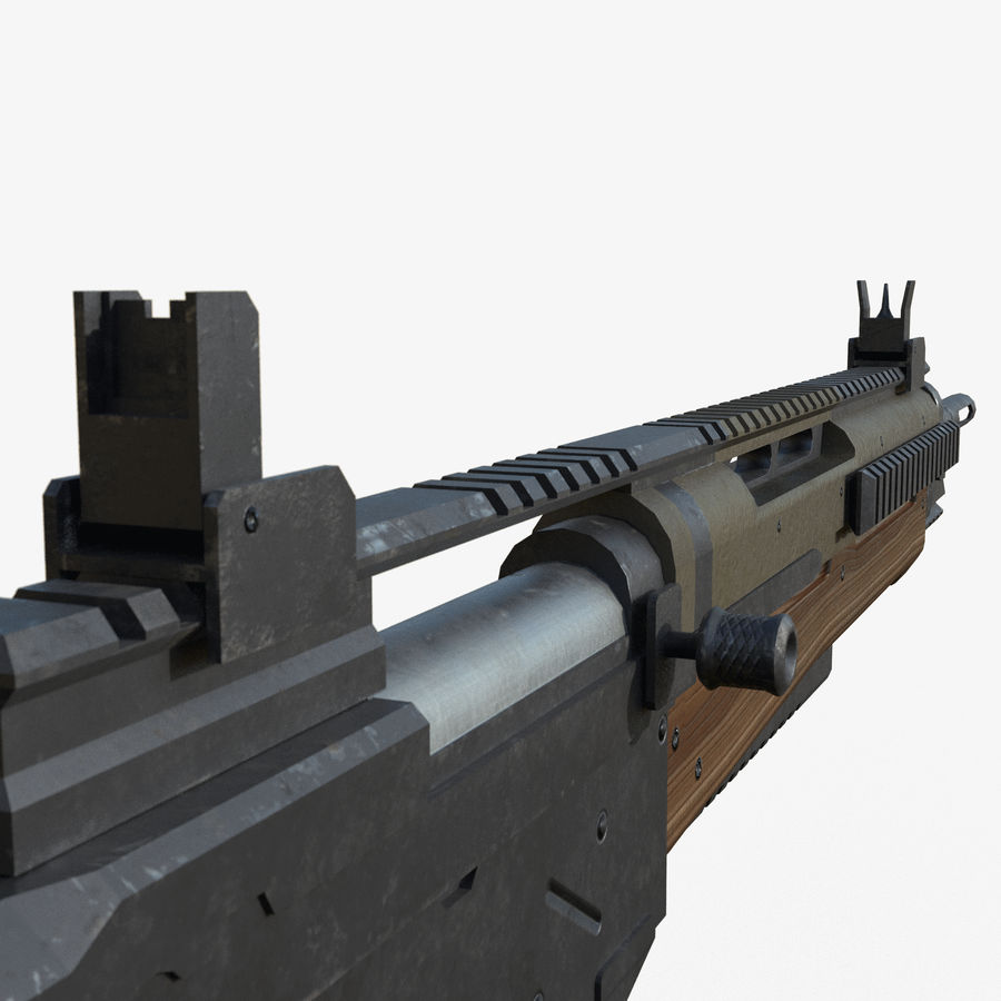 Fusil d'assaut royalty-free 3d model - Preview no. 6