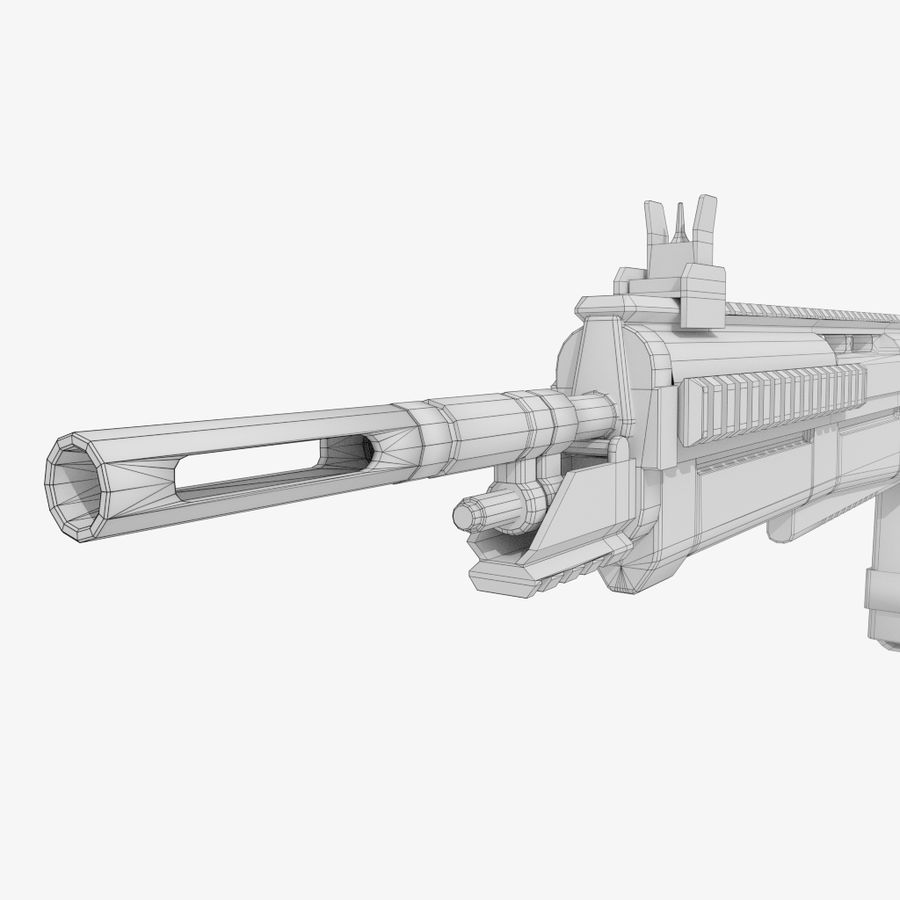 Fusil d'assaut royalty-free 3d model - Preview no. 10