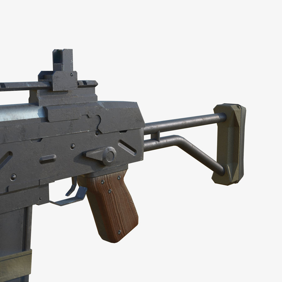 Fusil d'assaut royalty-free 3d model - Preview no. 7