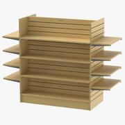 Slat Wall Gondolas and Shelves 02 01 3d model
