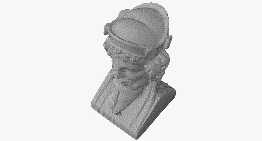 Büst royalty-free 3d model - Preview no. 52