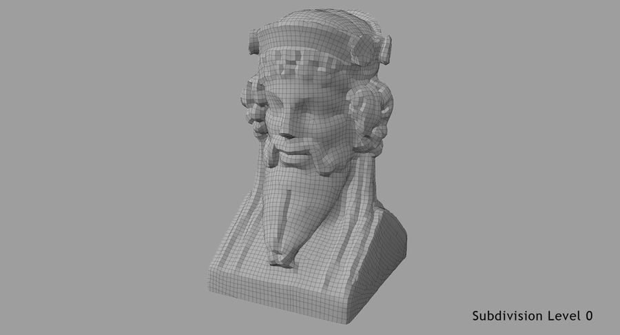 Büst royalty-free 3d model - Preview no. 70