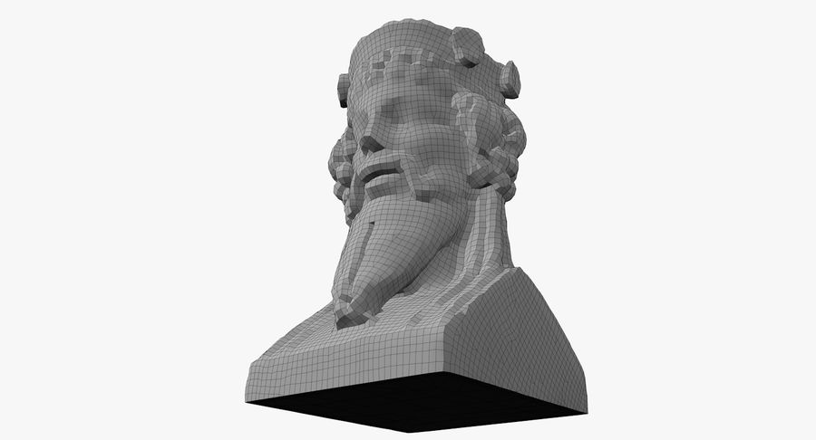 Büst royalty-free 3d model - Preview no. 58