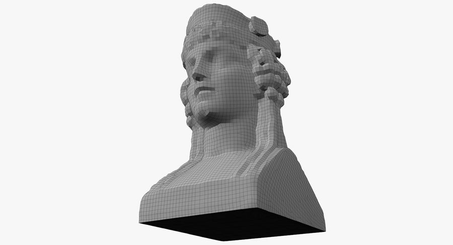 Büst royalty-free 3d model - Preview no. 56