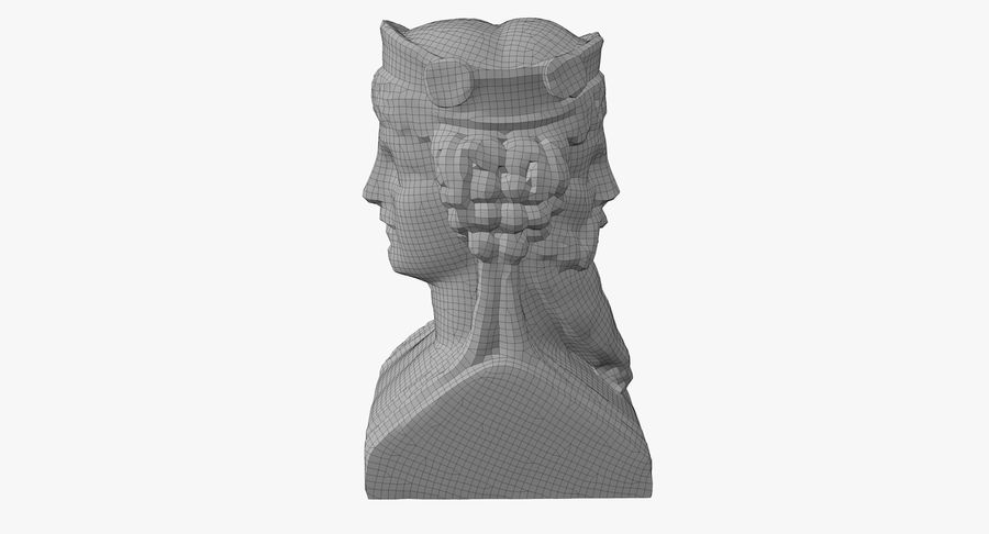 Büst royalty-free 3d model - Preview no. 43