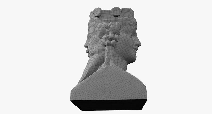 Büst royalty-free 3d model - Preview no. 57