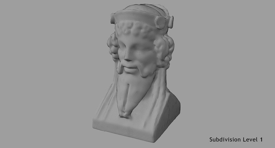 Büst royalty-free 3d model - Preview no. 71