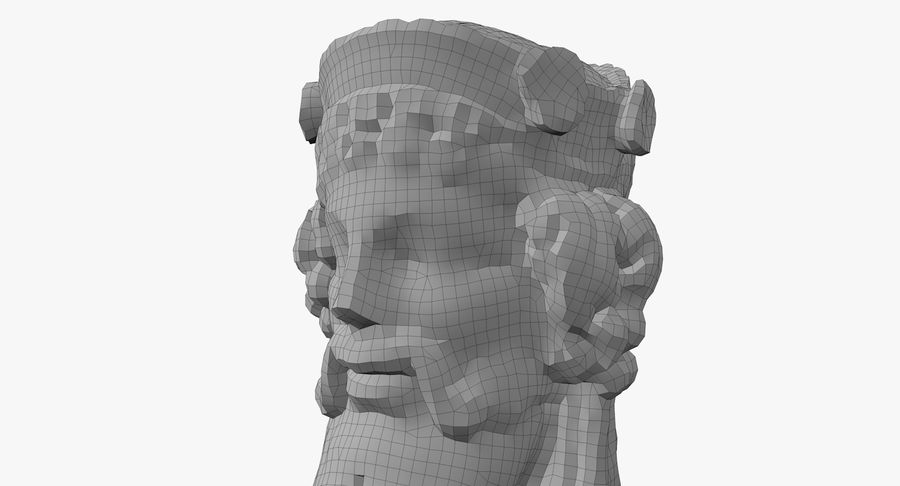 Büst royalty-free 3d model - Preview no. 59