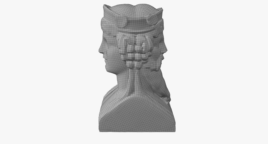 Büst royalty-free 3d model - Preview no. 50