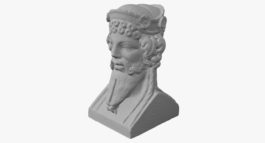 Büst royalty-free 3d model - Preview no. 26