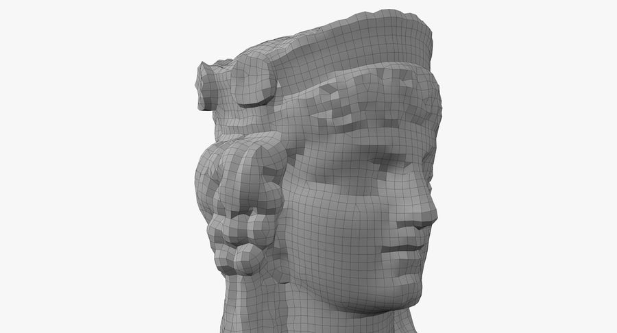 Büst royalty-free 3d model - Preview no. 60