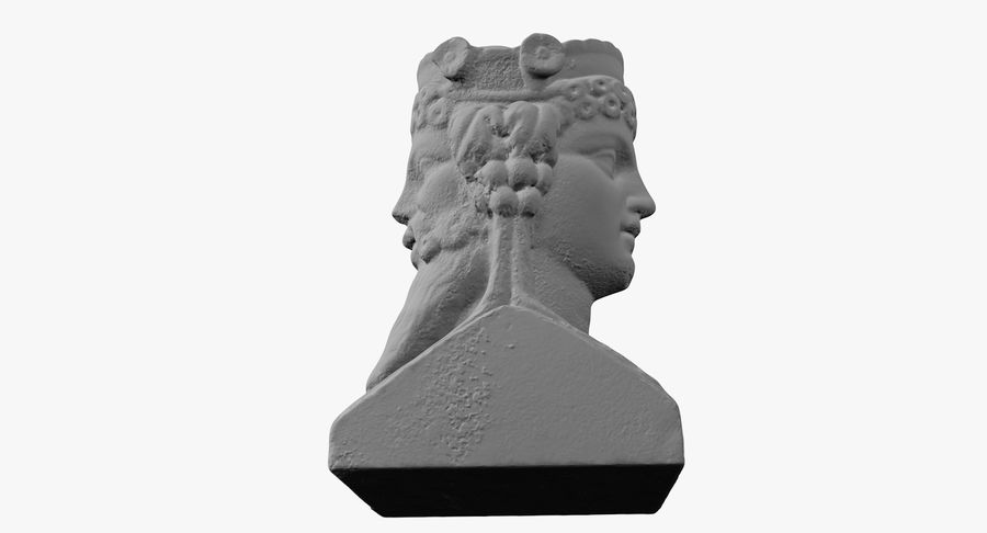 Büst royalty-free 3d model - Preview no. 37
