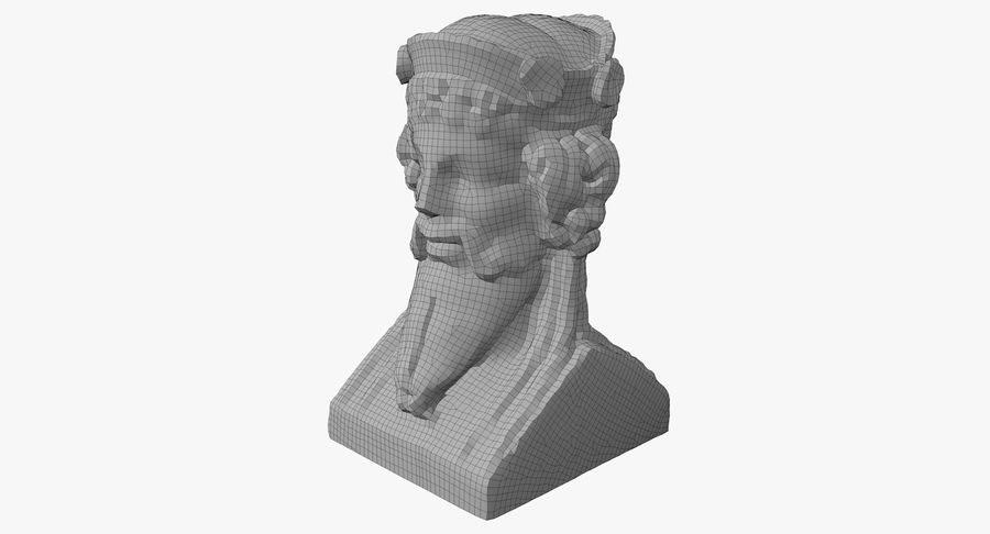 Büst royalty-free 3d model - Preview no. 46