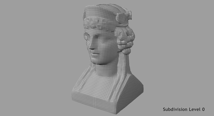 Büst royalty-free 3d model - Preview no. 67