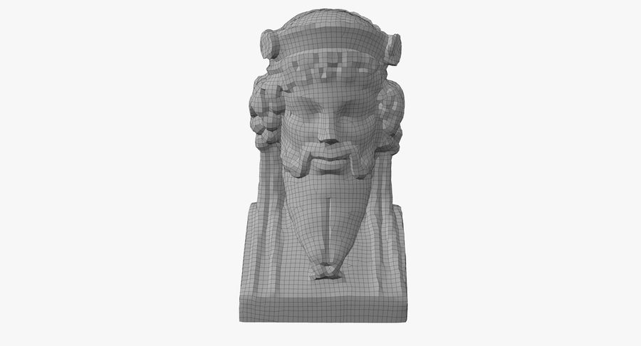 Büst royalty-free 3d model - Preview no. 45