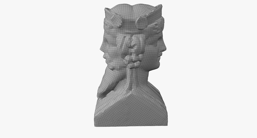 Büst royalty-free 3d model - Preview no. 49