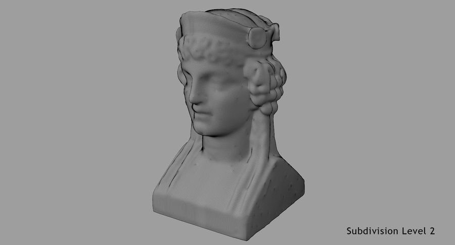 Büst royalty-free 3d model - Preview no. 69