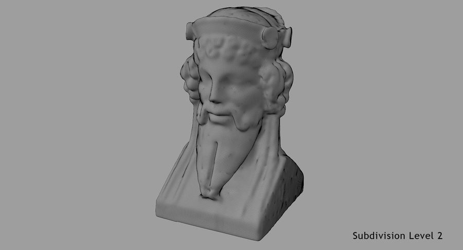 Büst royalty-free 3d model - Preview no. 72