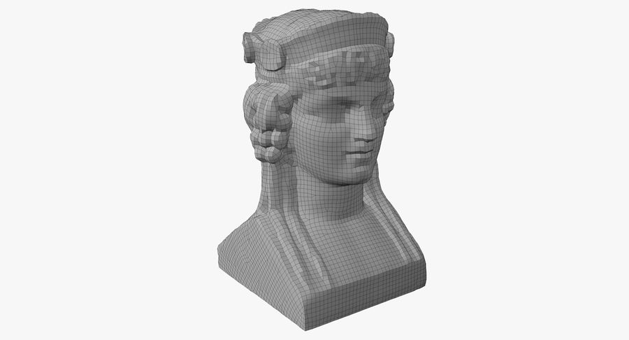 Büst royalty-free 3d model - Preview no. 48