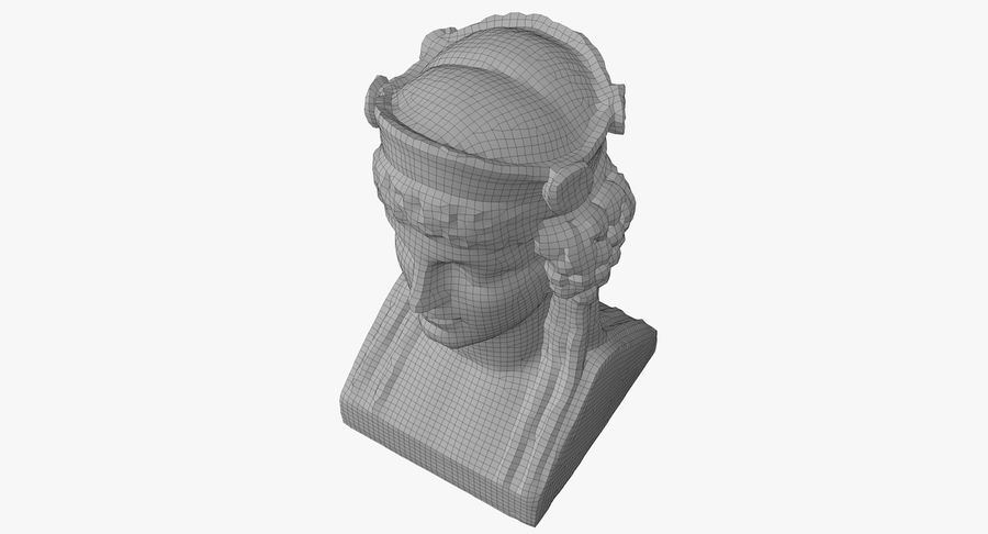 Büst royalty-free 3d model - Preview no. 51