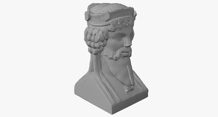 Büst royalty-free 3d model - Preview no. 44