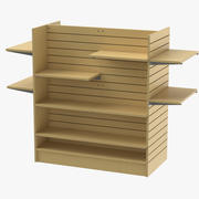 Slat Wall Gondolas and Shelves 03 01 3d model
