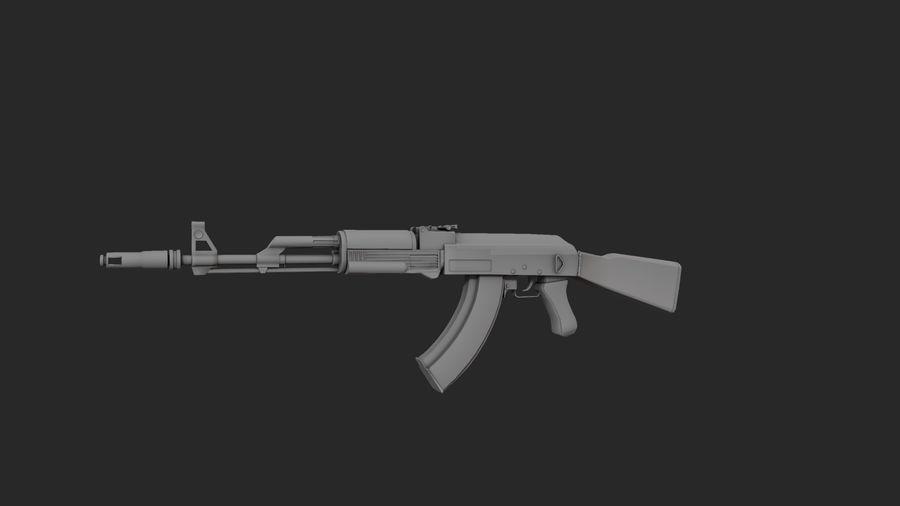 Ak-74 royalty-free 3d model - Preview no. 5