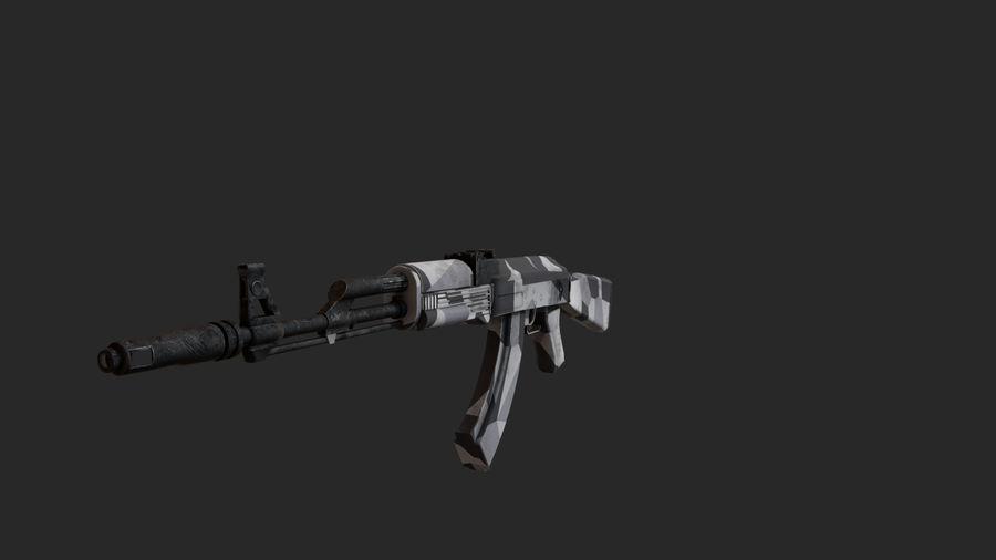 Ak-74 royalty-free 3d model - Preview no. 2