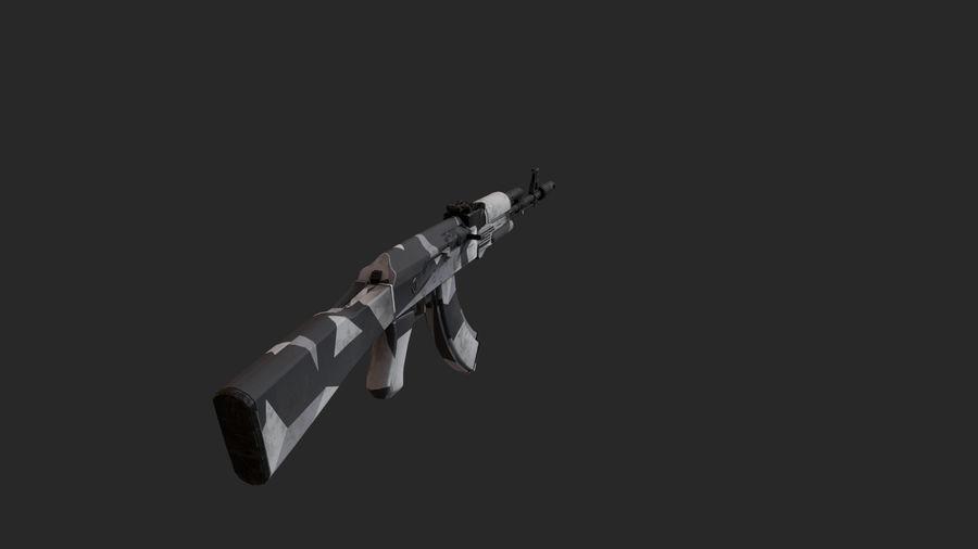 Ak-74 royalty-free 3d model - Preview no. 4
