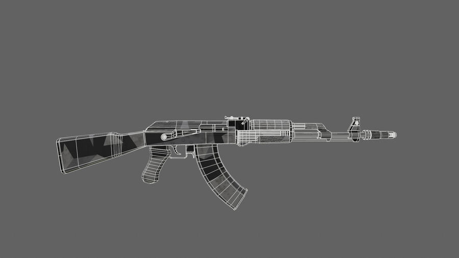 Ak-74 royalty-free 3d model - Preview no. 6