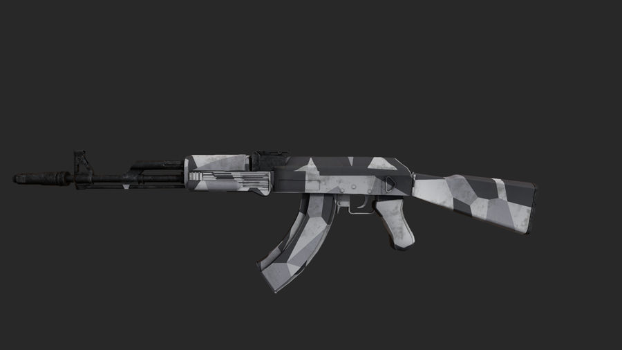 Ak-74 royalty-free 3d model - Preview no. 1