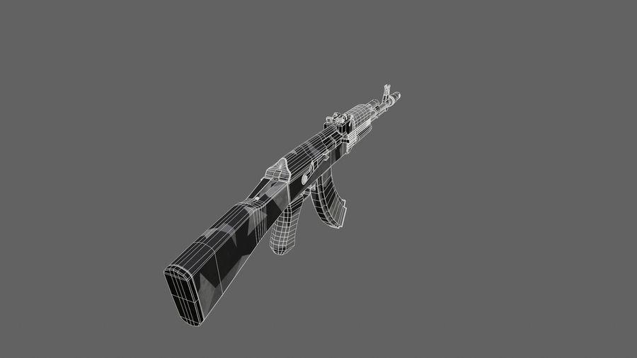 Ak-74 royalty-free 3d model - Preview no. 7