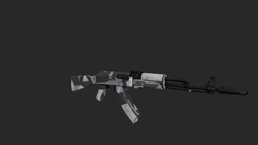 Ak-74 royalty-free 3d model - Preview no. 3