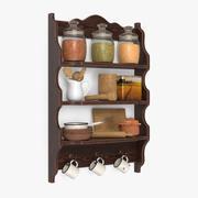 食器棚 3d model