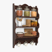 Shelf with Tableware 3d model