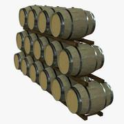 와인 배럴 랙-PBR 3d model