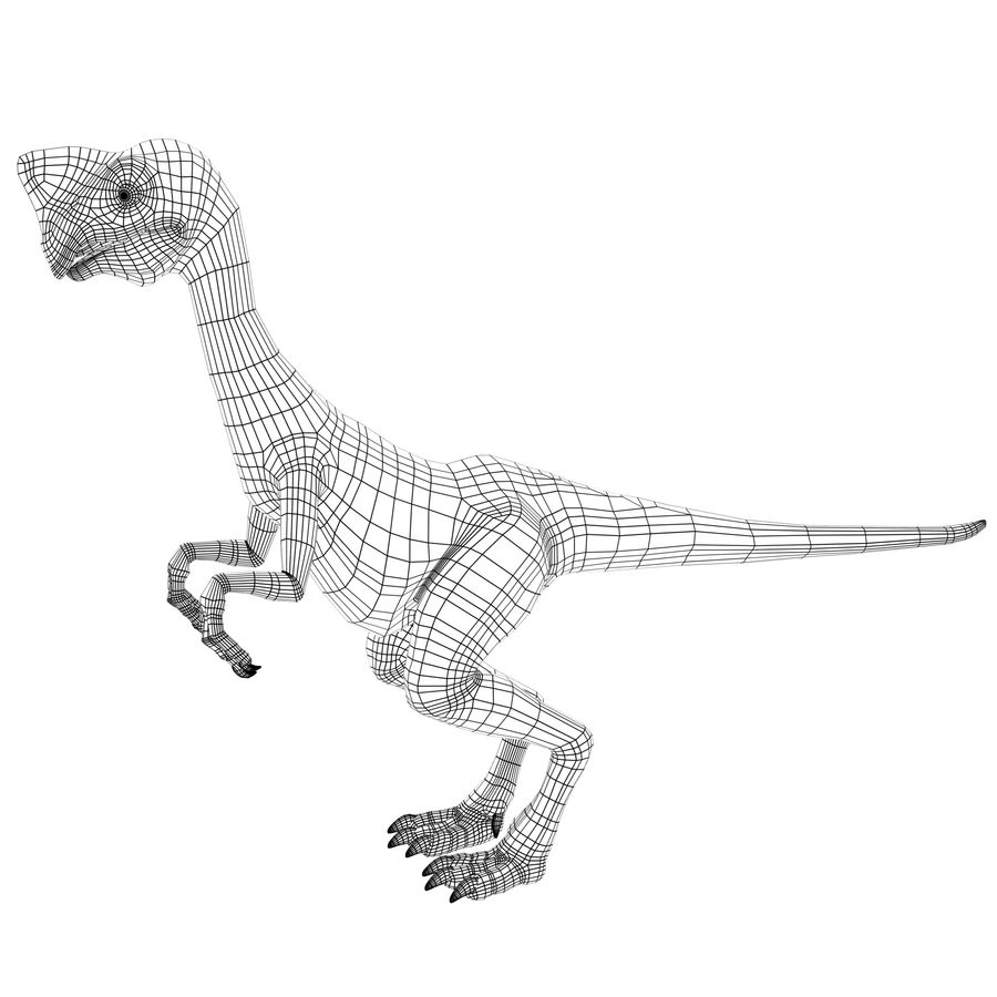 oviraptor royalty-free 3d model - Preview no. 12