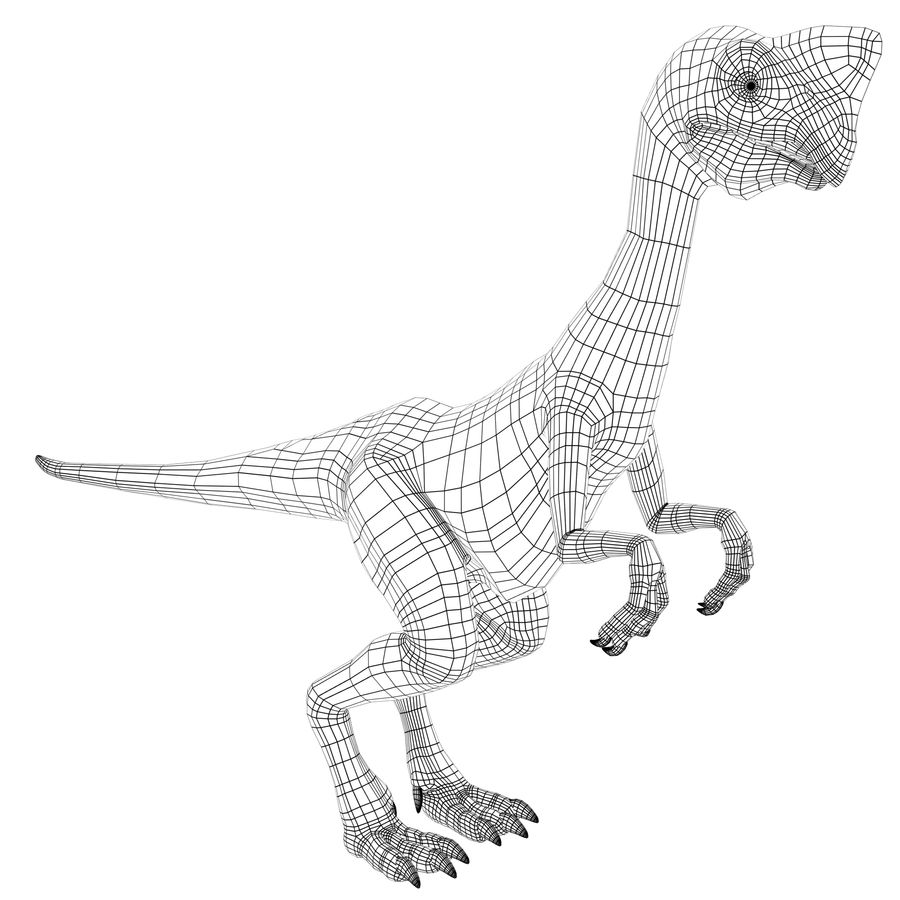 oviraptor royalty-free 3d model - Preview no. 11