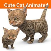 귀여운 고양이 애니메이션 3d model