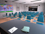 Classroom Interior 3d model