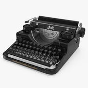 Antique Typewriter 3d model
