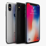 Apple iPhone X Alle kleuren 3d model