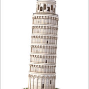 比萨斜塔,意大利。 3d model