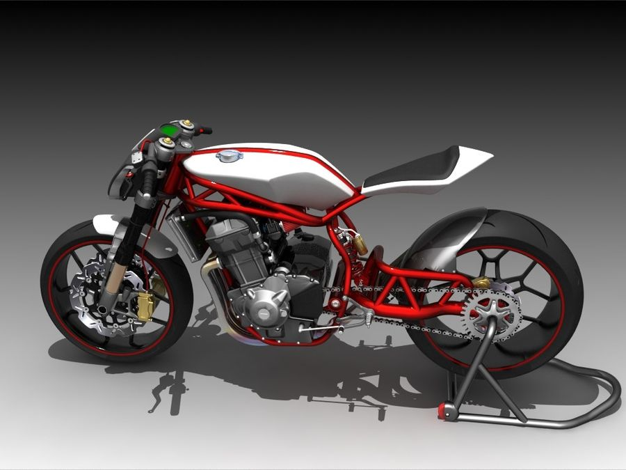 Concept Bike royalty-free 3d model - Preview no. 3