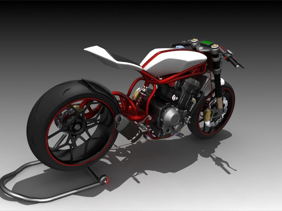Concept Bike royalty-free 3d model - Preview no. 5