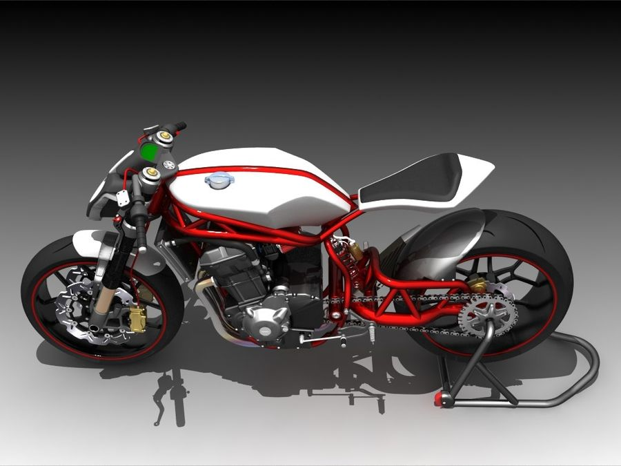 Concept Bike royalty-free 3d model - Preview no. 4