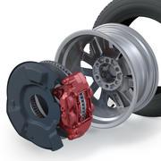 越野车车轮 3d model